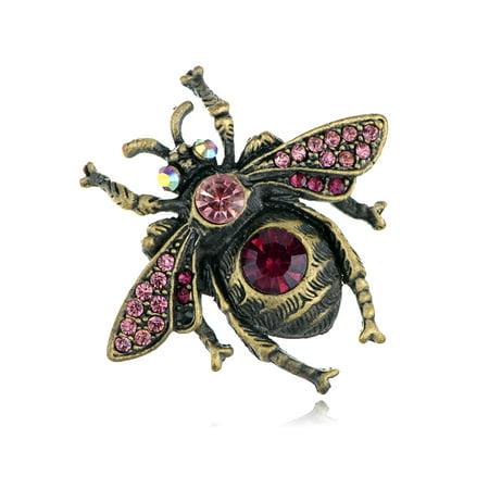Rhinestone Bee Pin - UK Purple Violet Czech Stylish Rhinestone Housefly Bee Fashion Pin Brooch