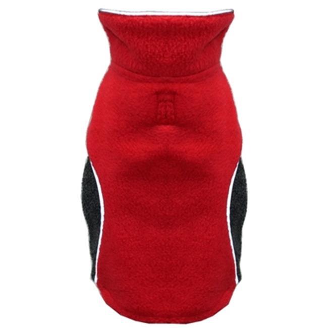 Hip Doggie HD-5PFWR-S Small Reversible Polar Fleece Wrap Coat - Red