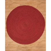 Natural Area Rugs Brussels Handwoven Maroon Area Rug