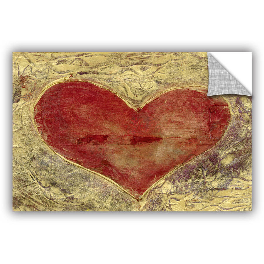 "ArtWall Elena Ray ""Red Heart of Gold"" Art Appeals Removable Wall Art"
