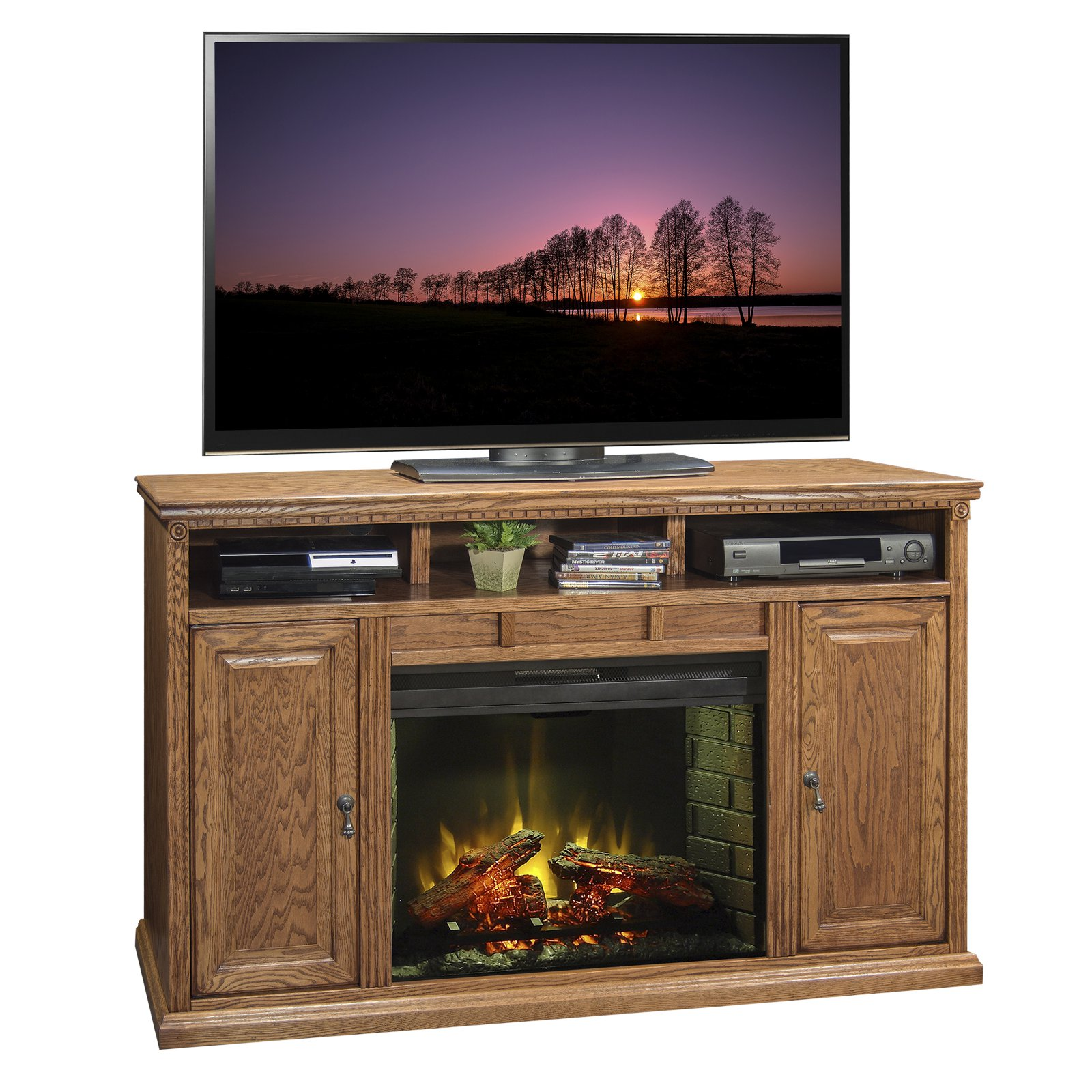 Legends Furniture Scottsdale 63 in. Electric Media Fireplace