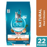 Purina ONE Natural Dry Cat Food, Tender Selects Blend With Real Chicken, 16 lb. Bag