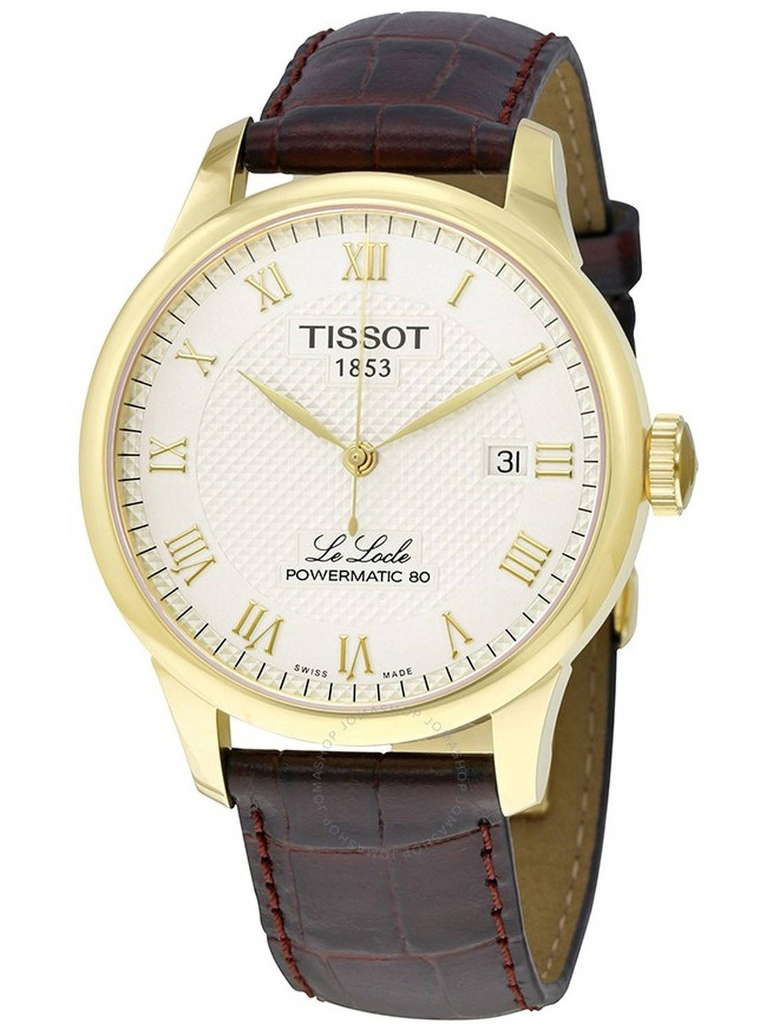 Le Locle Powermatic 80 Automatic Leather Mens Watch T0064073626300