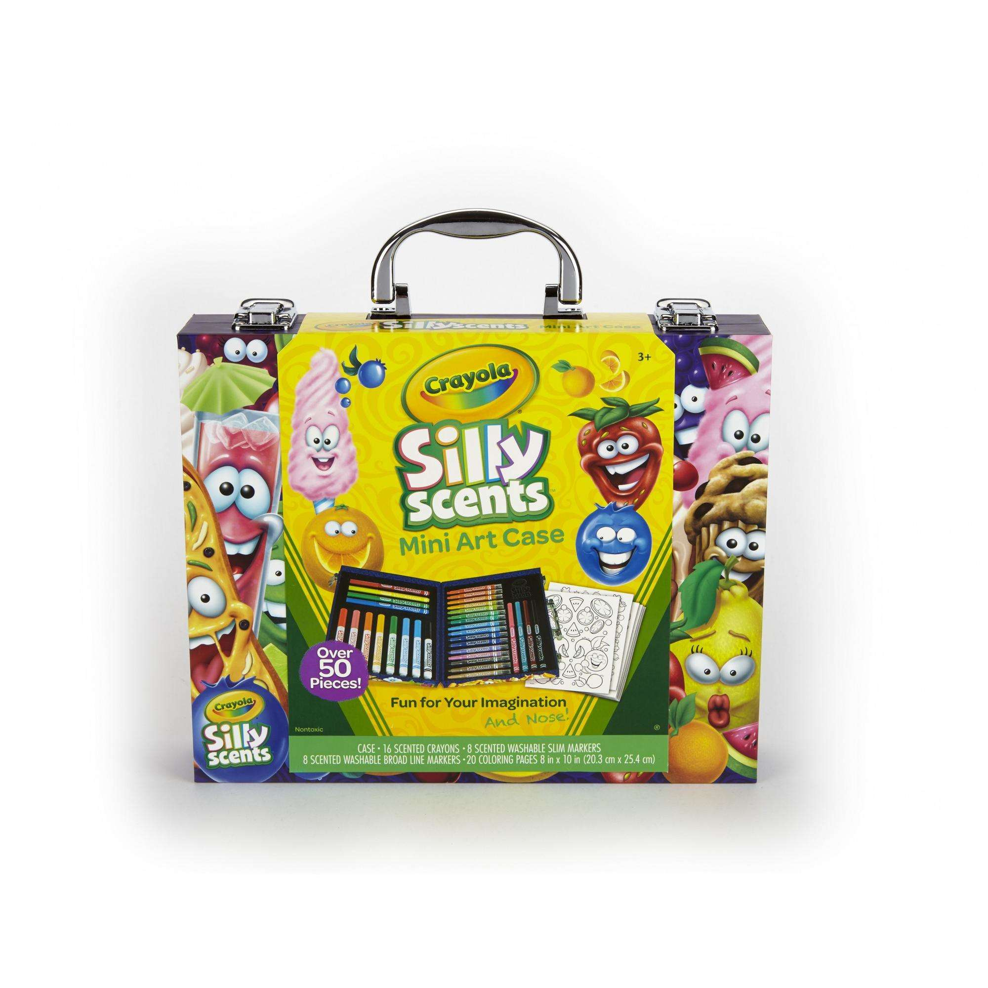 Crayola Silly Scents Mini Inspiration 52 Piece Art Case Kit ...