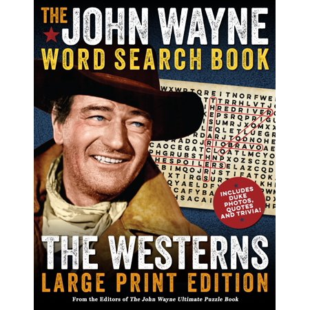 The John Wayne Word Search Book – The Westerns Large Print (Print Design Magazine)