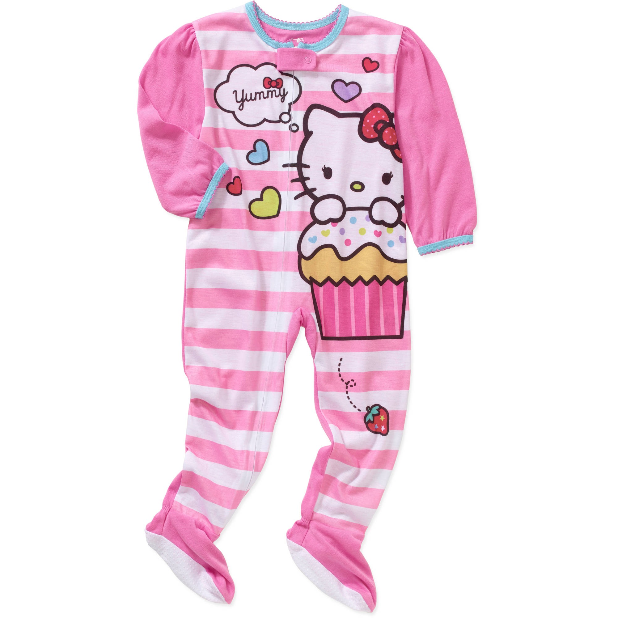 Hello Kitty Newborn Infant Baby Girl Footed Blanket Sleeper
