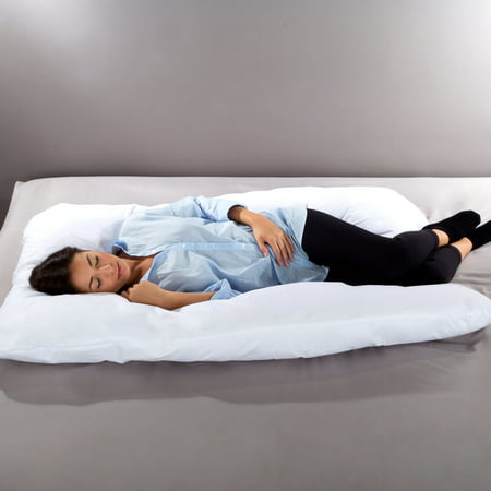 Full Body Pillow- 7 in 1 Pillow with Removeable Cover, Comfortable U-Shape for Support, Sleeping Lounging, Studying, More by Lavish Home Collection