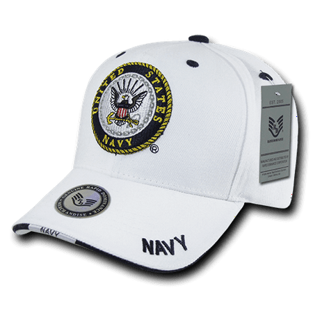 US Navy Official Military Caps Hats White - Walmart.com 18ddd68900a