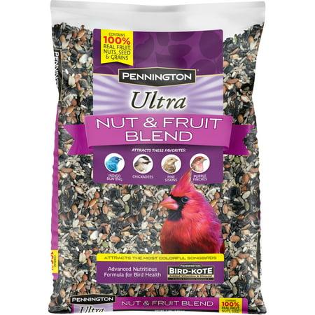 Pennington Ultra Fruit & Nut Blend, Wild Bird Seed and Feed, 7 lb. bag