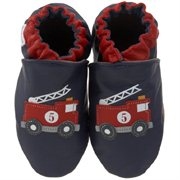 Robeez Soft Soles Fire Engine Crib Shoe (Infant Toddler),Navy,057M by