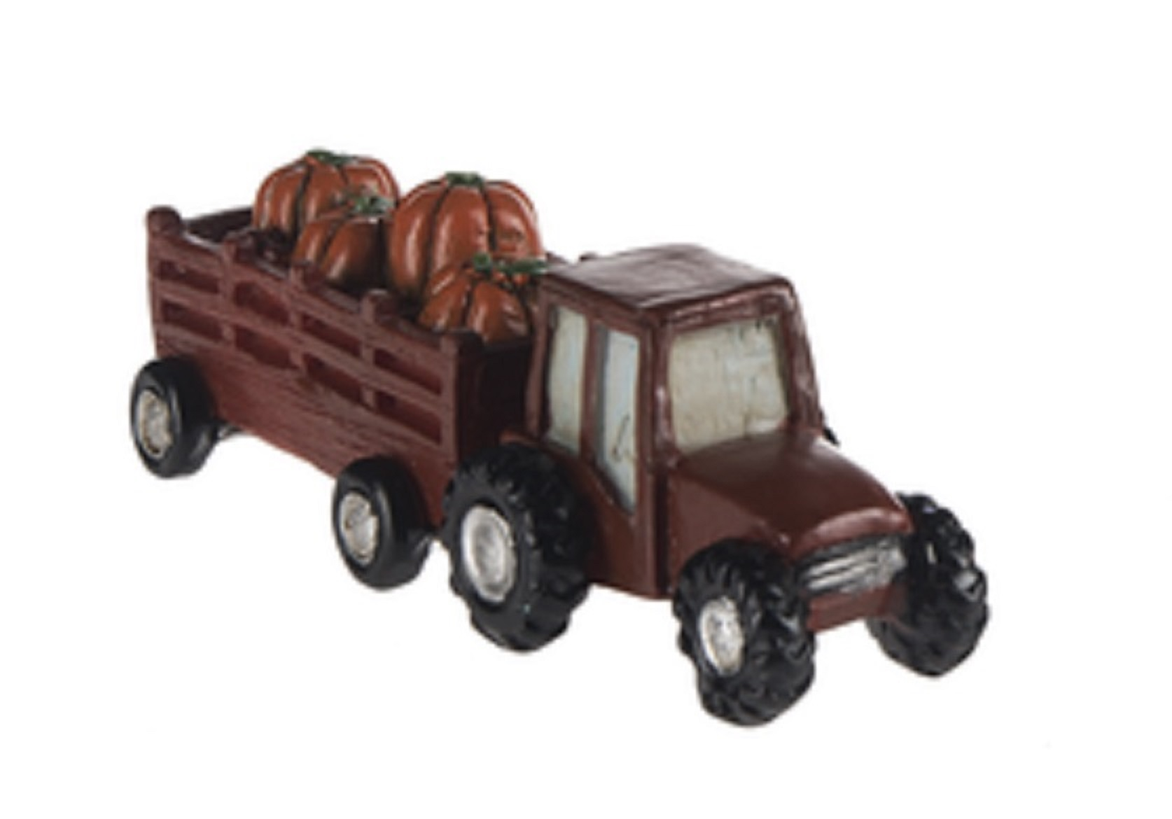 Brown Tractor Trailer Filled With Pumpkins Figure By Ganz by