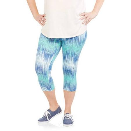 efd59a454be14 Faded Glory - Women's Plus Capri Legging - Walmart.com