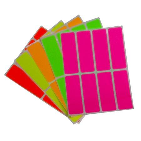 Sticker Rectangular Family Sticker (Color coding labels neon 3