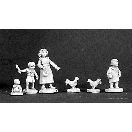 Reaper Miniatures Townsfolk X: Children 03233 Dark Heaven Legends Unpainted Metal