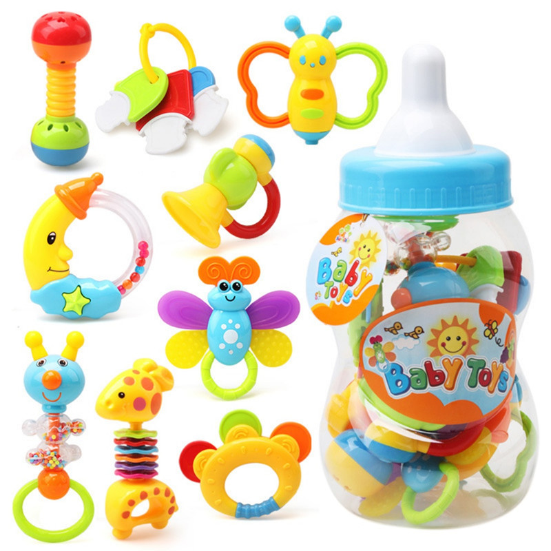 Baby Kid Development Animal Maternal Children Supplies Infant Hand Rattle Toy