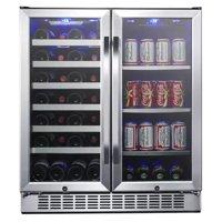 "Edgestar Cwb2886fd 30"" Wide 28 Bottle Built-In Dual Zone Beverage Center Wit - Stainless"