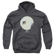 ET the Extra Terrestrial In The Moon Big Boys Pullover Hoodie