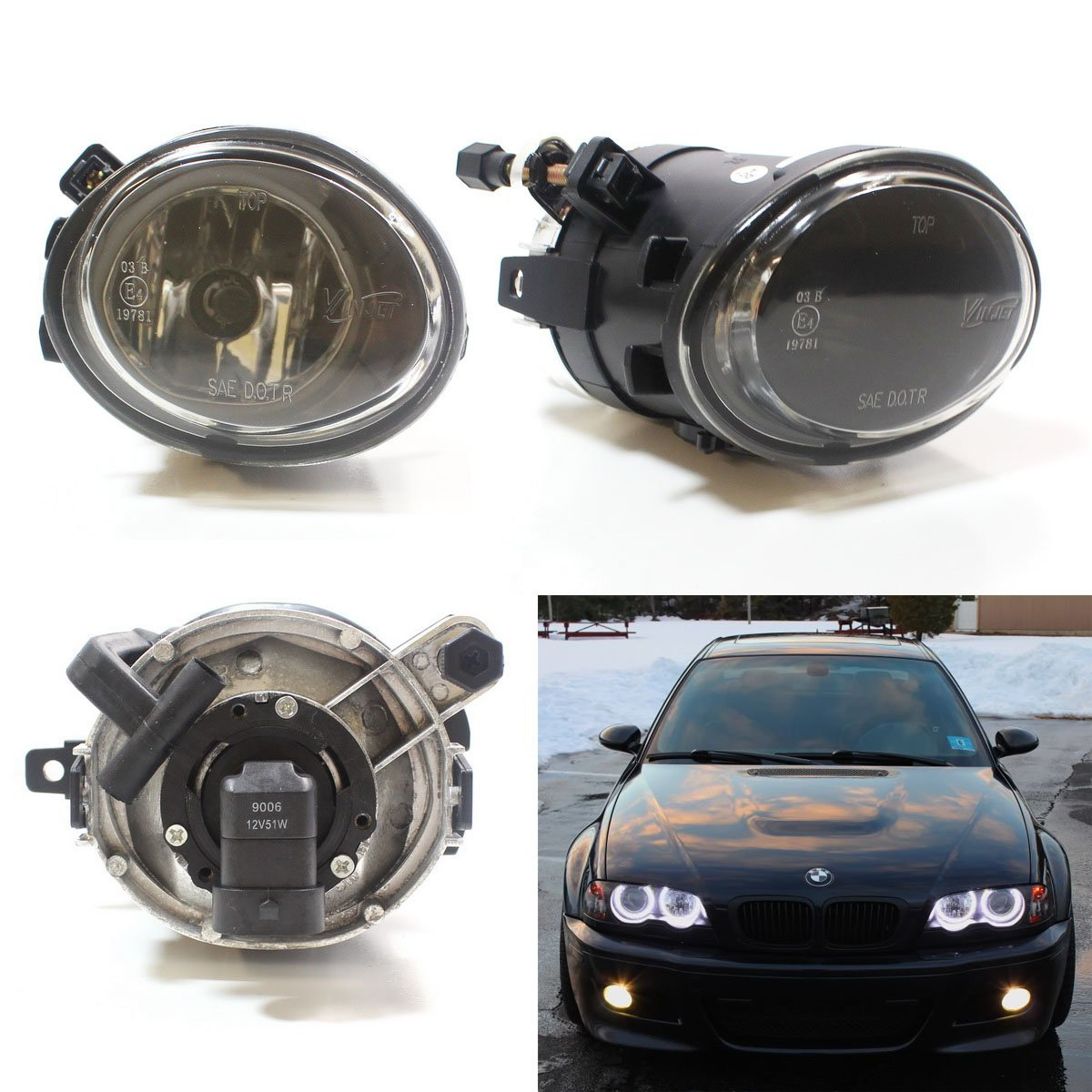 Ijdmtoy One Pair Clear Lens Fog Lights Foglamps W Halogen Bulbs For 2001 2005 Bmw E46 M3 3 Series W M Tech Bumper Or 1999 2002 Bmw E39 M5 Oem 63 17 7 894 018 63 17 7 894 017 Walmart Com Walmart Com