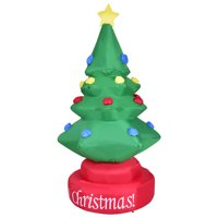 product image gymax 7ft rotary inflatable christmas tree holiday indoor outdoor decoration blower - Walmart Christmas Decorations