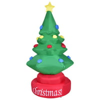 product image gymax 7ft rotary inflatable christmas tree holiday indoor outdoor decoration blower - Christmas Tree Yard Decorations
