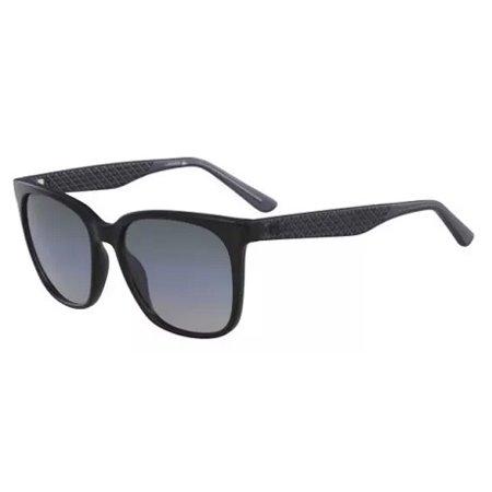 New Lacoste 861s Mens/Womens Designer Full-Rim 100% UVA & UVB Black Glamorous Contemporary High Quality Famous Designer Frame Gradient Gray Lenses 55-17-140 (Famous Designer Sunglasses)