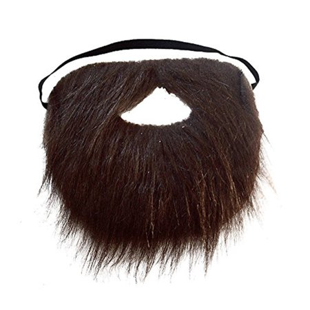 Brown Faux Fake Pirate Buccaneer Old Man Beard - Fake Goatee Beard