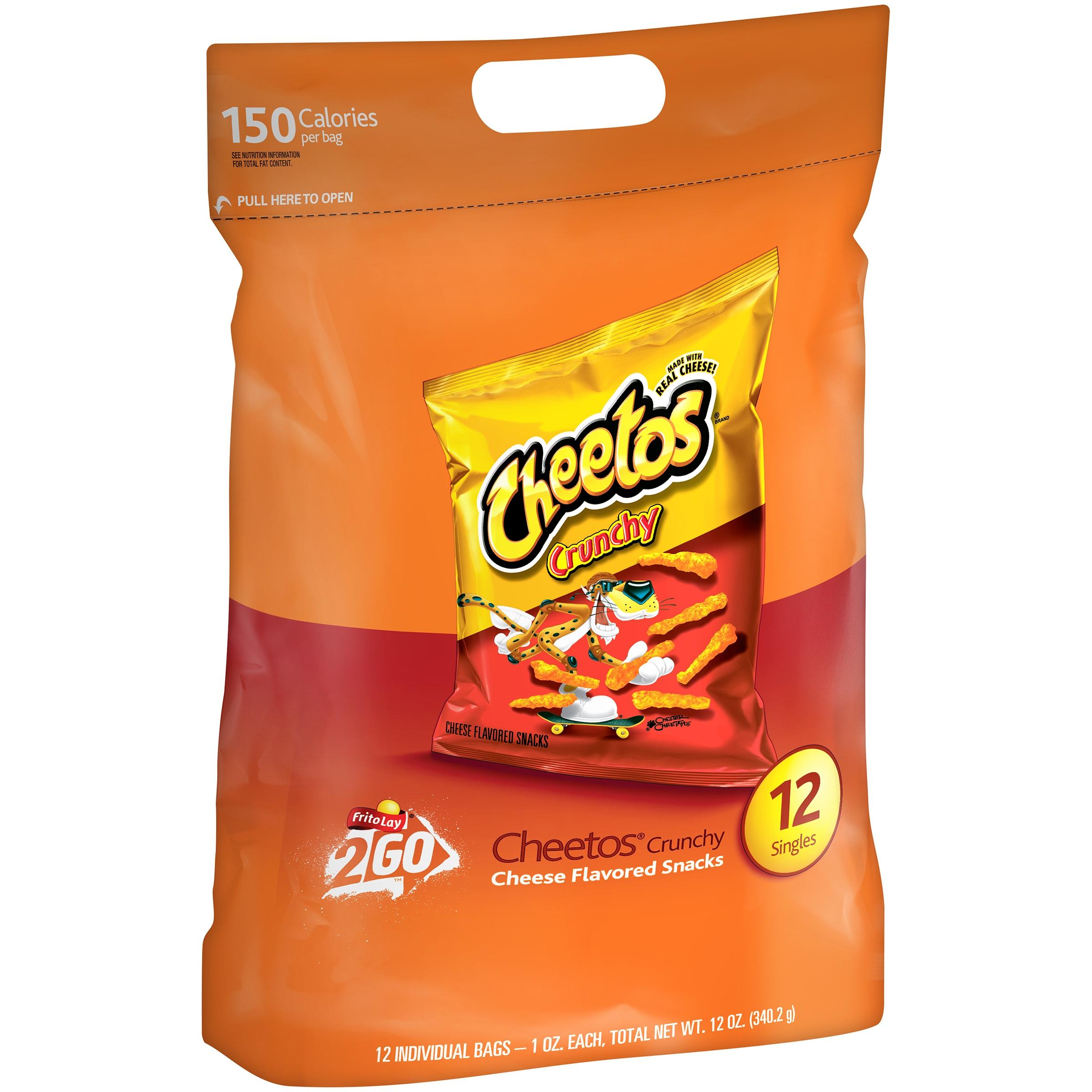 Frito - Lay, inc. Cheetos ® Crunchy Singles Cheese Flavored Snacks 12 - 1 oz. Bags