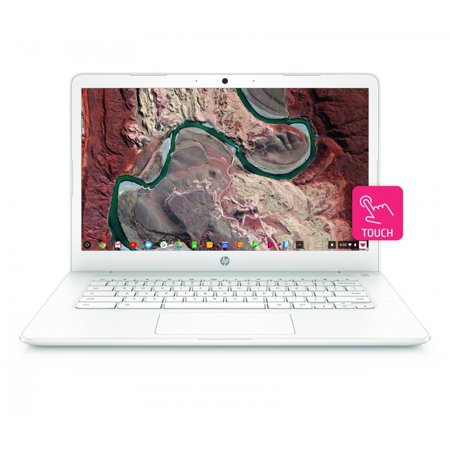 "HP Chromebook 14, 14"" Full HD Touchscreen Display, Intel Celeron N3350, Intel HD Graphics 500, 32GB eMMC, 4GB SDRAM, B&O Play Audio, Snow White, 14-ca052wm"
