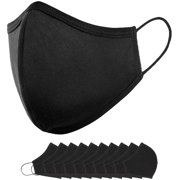 ArtNaturals Reusable Black Cloth Face Mask (10 Pack)