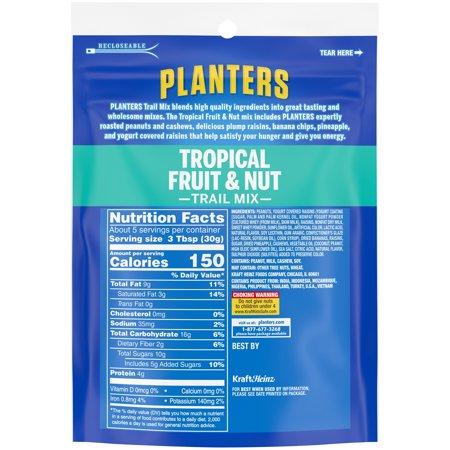 4 Pack) Planters Trail Mix Fruit & Nut, 6 Oz - Walmart.com on