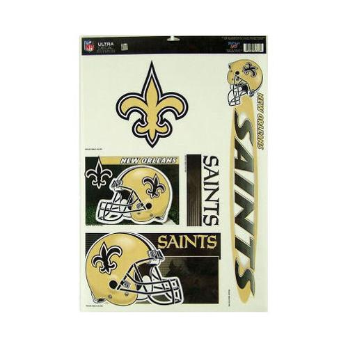 New Orleans Saints Official NFL 11 inch x 17 inch  Car Window Cling Decal by Wincraft