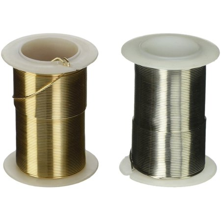Gold and Silver Coated Craft Wire 20-Gauge Non Tarnish 45 Feet of Each Color. Perfect for Crafting Projects, Beading, Jewelry, Ornaments, Ming Trees, Wire Sculptures, and More