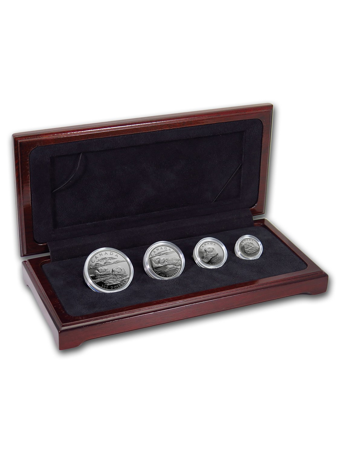 1994 Canada 4-Coin Proof Platinum Sea Otter Set (w Box & COA) by