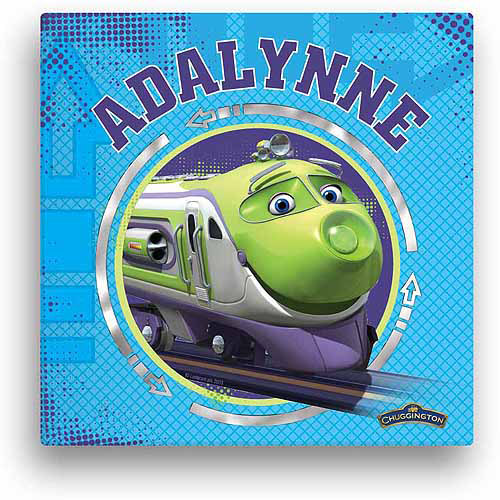"Personalized Chuggington Koko 12"" x 12"" Canvas Wall Art"