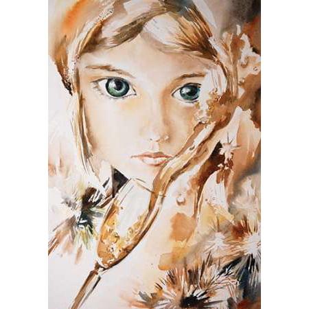 Green Eyes Rolled Canvas Art   Sophia Rodionov  18 X 24