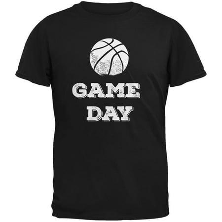 Game Day Basketball Black Adult T-Shirt
