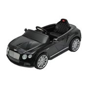 bentley gtc kids 6v electric ride on toy car w parent remote control black