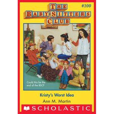 The Baby-Sitters Club #100: Kristy's Worst Idea - - Book Club Halloween Ideas