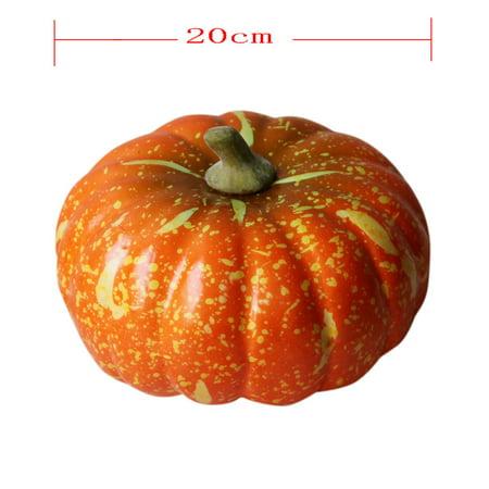 Halloween cool Artificial Pumpkin Simulation Fake Lifelike Props Garden Home Decor ()