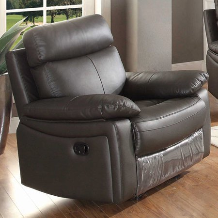 Pacific Heights Leather (AC Pacific Ryker Brown Leather Reclining Living Room Arm Chair )