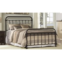 Bowery Hill Queen Metal Spindle Panel Bed in Dark Bronze