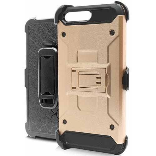 MUNDAZE Techfix Belt Clip Kickstand Hybrid Case for Apple iPhone 7 8 Plus