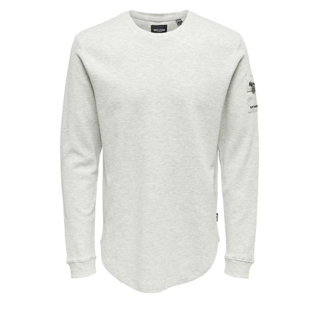 Structured Oatmeal Long Sleeve Shirt