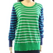 Halogen NEW Green Colorblock Striped Women's Size XL Pullover Sweater