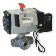 DYNAQUIP CONTROLS PYSA3AJD02A Ball Valve, 1/2 In, Double Acting, SS