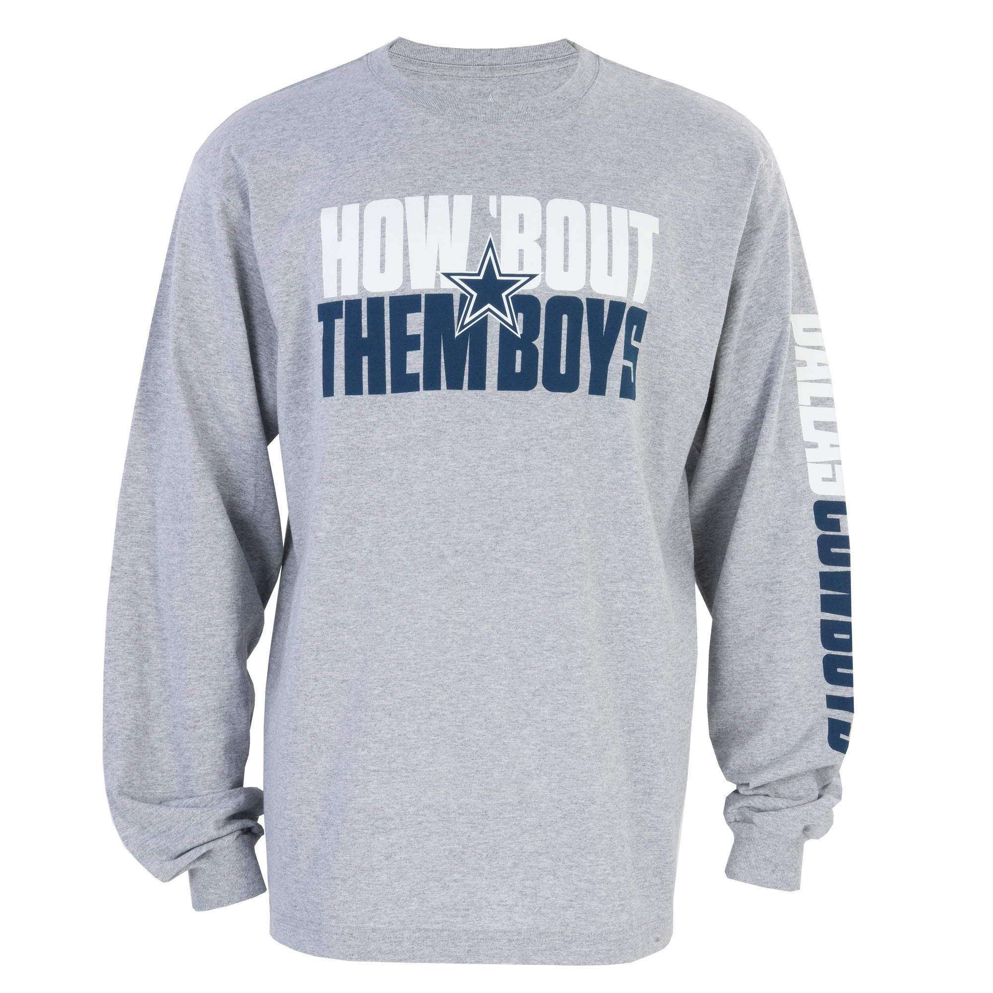 NFL Dallas Cowboys Men's Stack Long Sleeve Tee