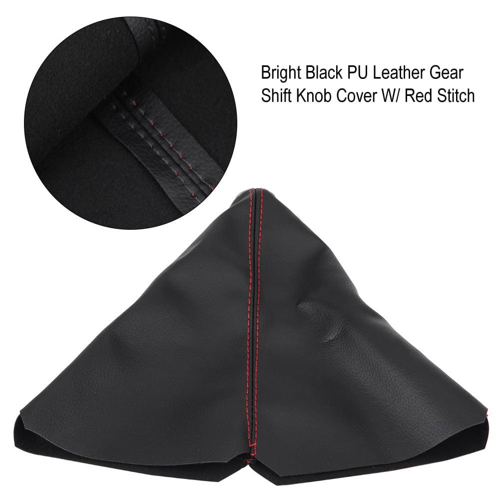 Gear Shift Knob Cover,Universal Auto Manual Gear Shift Knob Boot Dust Cover,PU Leather Gear Shifter Boot Gear Gaiter Cover