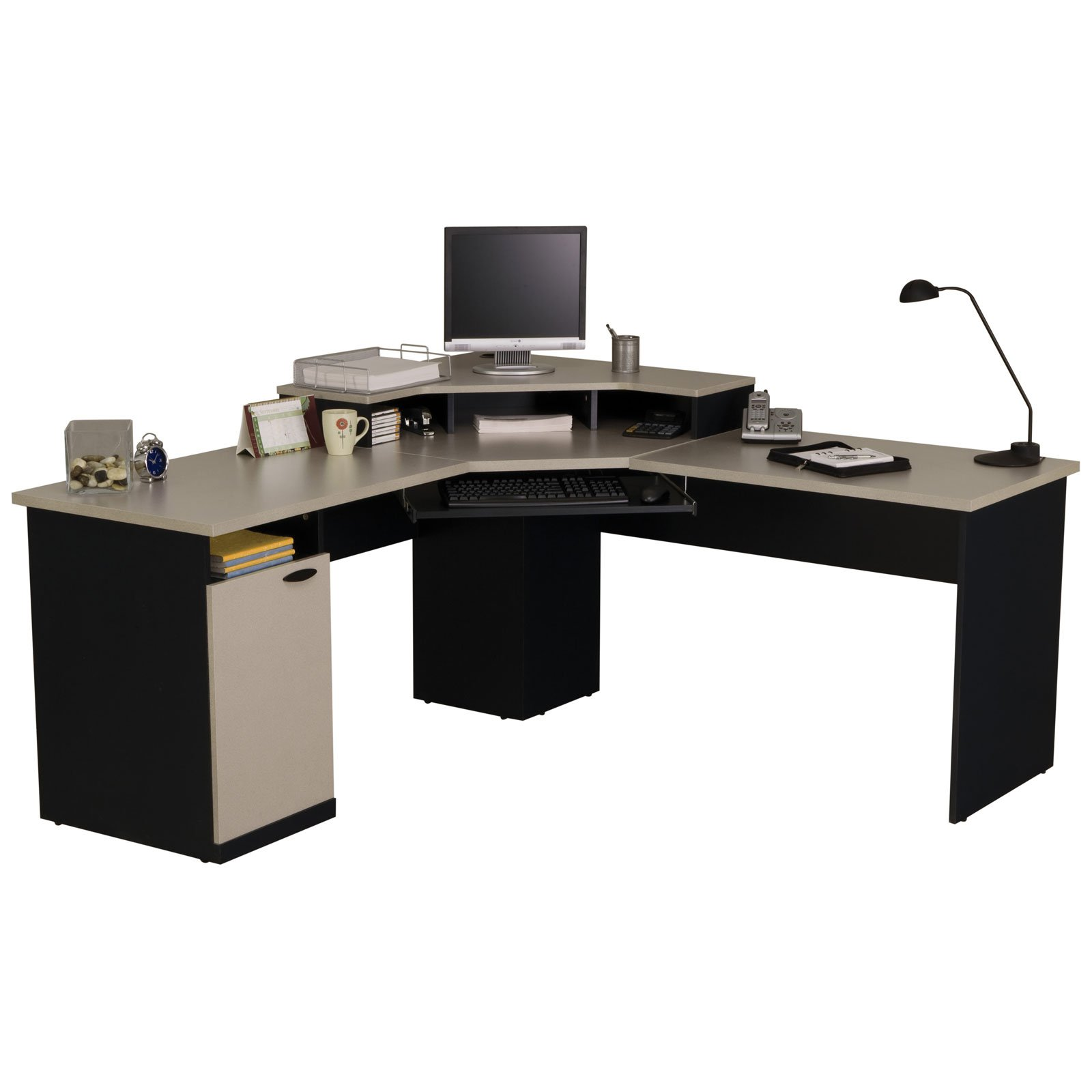 Bestar Hampton Corner Computer Desk   Walmart com. Everything Office Furniture Corner Computer Desk. Home Design Ideas