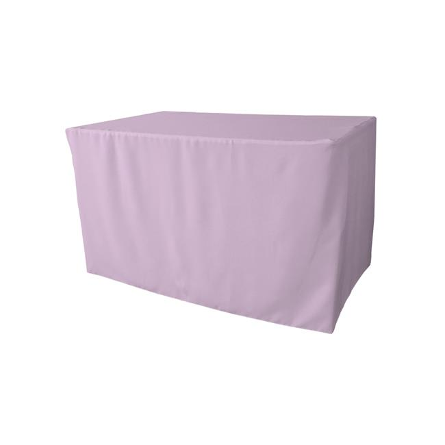LA Linen TCpop-fit-48x30x30-LilacP45 1.8 lbs Polyester Poplin Fitted Tablecloth, Lilac - image 1 of 1