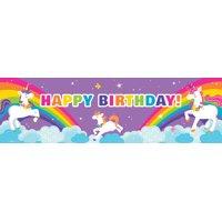 Fairytale Unicorn Party Birthday Banner